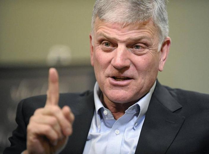 Evangelist Franklin Graham shown in this file photo in January 2017 has driven his Crusader advertisement off the bus for his & # x00201c; anti-LGBTQ & # x00201d; for two years with the British town. Won the court battle. Remarks.
