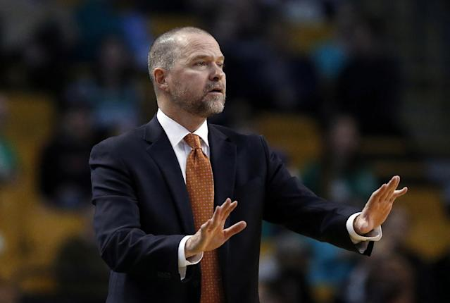 Nuggets coach Michael Malone just wants everyone to slow down and take another look. (AP)