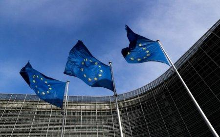 FILE PHOTO: European Union flags flutter outside the EU Commission headquarters in Brussels, Belgium, March 12, 2018. REUTERS/Yves Herman/File Photo