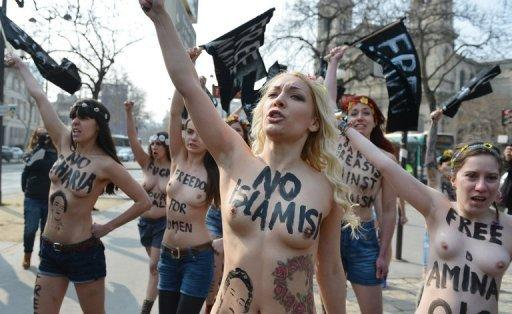 Femen-Aktivistinnen in Paris