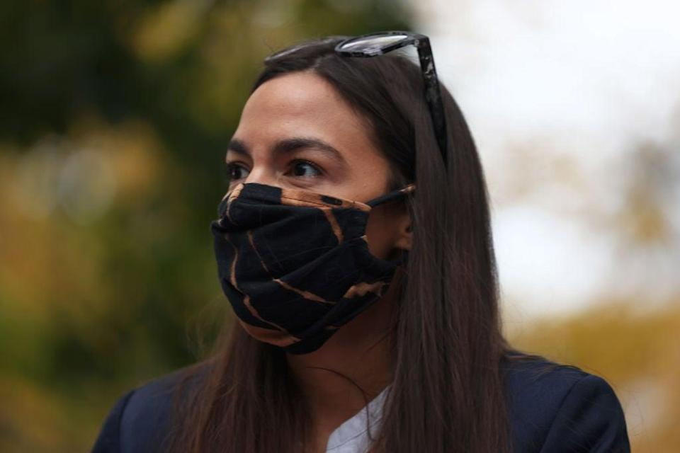 <p>'I find it amusing when politicians try to diminish the seriousness of our policy work,' says AOC</p> (Getty Images)