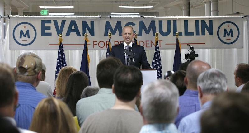 Evan McMullin kicked off his presidential campaign in Salt Lake City on Aug. 10, 2016. (Photo: George Frey/Getty Images)