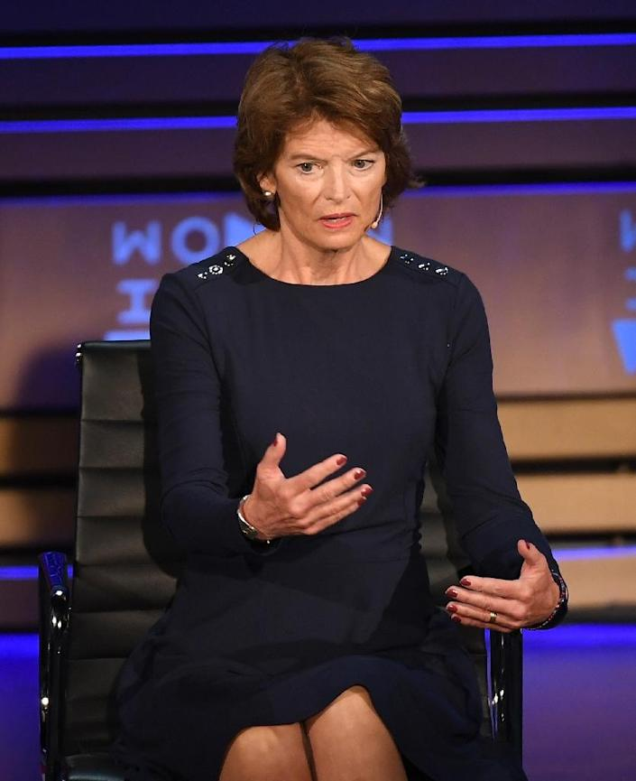 Senator Lisa Murkowski, a moderate Republican who supports abortion rights, is under immense pressure from both political parties over how she might vote on the confirmation of Brett Kavanaugh to the US Supreme Court (AFP Photo/ANGELA WEISS)