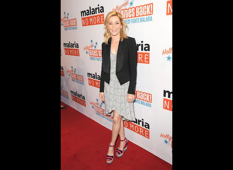 Actress Elizabeth Banks arrives at Malaria No More Presents: Hollywood Bites Back! held at Club Nokia L.A. Live on April 16, 2011 in Los Angeles, California. (Getty)