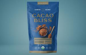 Cacao Bliss is a chocolate-flavored superfood powder supplement by Danette May that can be added to any diet to improve its wellness.
