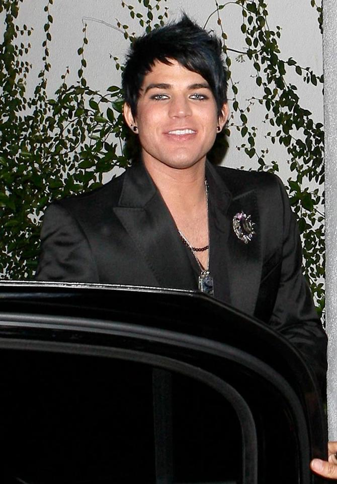 """Idol"" runner-up, Adam Lambert, was all smiles as his future looks very bright. Apparently, KISS frontman Gene Simmons was so impressed by the singer that he invited Adam to join them on tour whenever he'd like! AlphaX/<a href=""http://www.x17online.com"" target=""new"">X17 Online</a> - May 20, 2009"