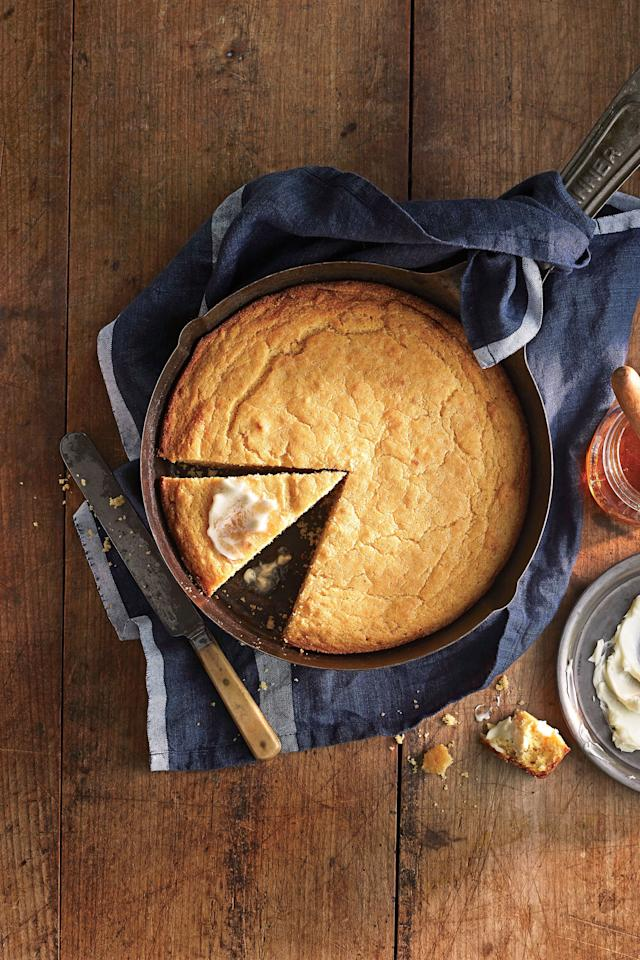 "<p><strong>Recipe: <a href=""https://www.southernliving.com/recipes/ben-mims-perfect-cornbread"">Ben Mims' Perfect Cornbread</a></strong></p> <p>Our Test Kitchen granted the ""perfect"" moniker to Ben's recipe, thanks to the extra flavor and superior texture his browned butter affords.</p>"