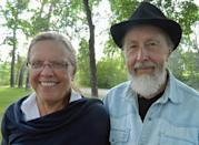 This July 2012 photo provided by Carol Tapanila shows her and her second husband in Calgary, Alberta, Canada. Tapanila, a native of upstate New York who has lived in Canada since 1969, has joined a largely overlooked surge of Americans rejecting what is, to millions, a highly sought prize: U.S. citizenship. In 2013, the U.S. government reported a record 2,999 people renounced citizenship or terminated permanent residency. (AP Photo/Carol Tapanila)