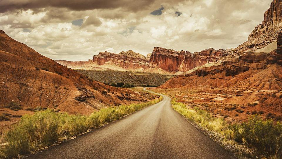 "<p><strong>The Drive:</strong> The ""Scenic Drive"" through <a href=""https://www.tripadvisor.com/Attraction_Review-g143017-d212117-Reviews-Capitol_Reef_National_Park-Capitol_Reef_National_Park_Utah.html"" rel=""nofollow noopener"" target=""_blank"" data-ylk=""slk:Capitol Reef National Park"" class=""link rapid-noclick-resp"">Capitol Reef National Park</a></p><p><strong>The Scene:</strong> While you can certainly explore this national park by hiking or horseback riding, we recommend taking it in via the comforts of your car. Drive through the heart of this 100-mile park on the ""Scenic Drive"" route, which begins at the visitor's center. Though it's a relatively short drive (less than 10 miles), you should expect to spend several hours on it if you want to see all eleven park landmarks on the way. And if you love what you see, you can extend your trip by driving the Cathedral Valley Loop.</p><p><strong>The Pit-Stop:</strong> Make a quick stop at <a href=""https://www.tripadvisor.com/Attraction_Review-g143017-d3475336-Reviews-Capitol_Gorge_Trail-Capitol_Reef_National_Park_Utah.html"" rel=""nofollow noopener"" target=""_blank"" data-ylk=""slk:Capitol Gorge"" class=""link rapid-noclick-resp"">Capitol Gorge</a>, a nearby canyon that offers the perfect place for photos. </p>"