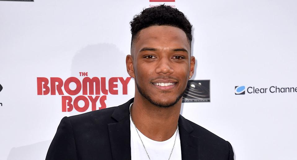 Theo Campbell attending The Bromley Boys World Premiere held at Wembley Stadium in London. (Photo by Matt Crossick/PA Images via Getty Images)