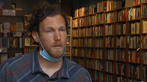 PHOTO: Bookstore owner Adam Waterreus of Washington, D.C., relied on the government's Paycheck Protection Program to keep the majority of staff on payroll during the coronavirus pandemic. (ABC News)