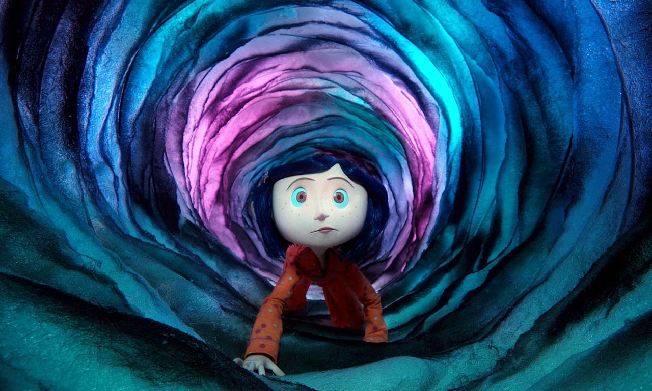 <p><strong>Rating: </strong>PG</p> <p><strong>Age of kids who can handle it:</strong> 9+</p> <p><strong>Why it's scary: </strong>This fantasy flick will definitely scare littler kids. Coraline is trapped in a scary and dangerous place where people have frightening buttons for eyes, and the movie is dark and creepy, in general. It's a safer bet for your tween to watch this one.</p>