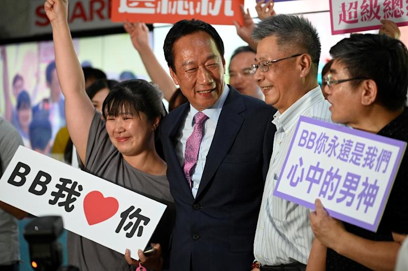 Terry Gou has run Foxconn for more than 40 years (AFP Photo/Sam YEH)