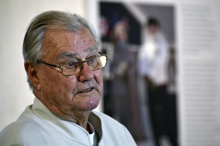 Prince Henrik seen visiting an art exhibition in Cahors, southwestern France, on a 2015 visit to the land of his birth
