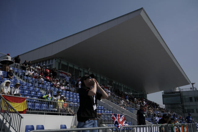 It has increased fears over athlete and spectator safety - particularly regarding a stand which is only half-covered (AP Photo/Jae C. Hong)