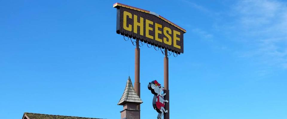 DeFOREST, WISCONSIN - JUNE 21, 2017: Ehlenbachs Cheese Chalet. Family owned for over 40 years the shop features over 250 different varities of Wisconsin Cheese.
