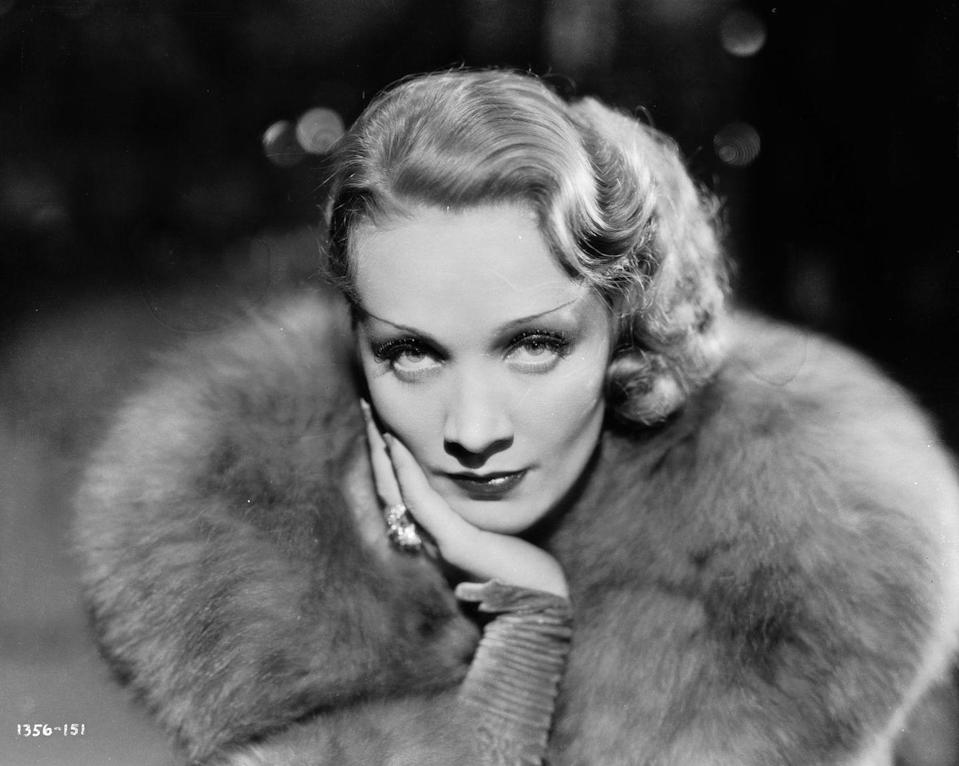 <p>From the film directed by <em>Shanghai Express</em> directed by Josef von Sternberg, Dietrich commands the camera while wrapped in a fur jacket and sporting a pressed hair style. <br></p>