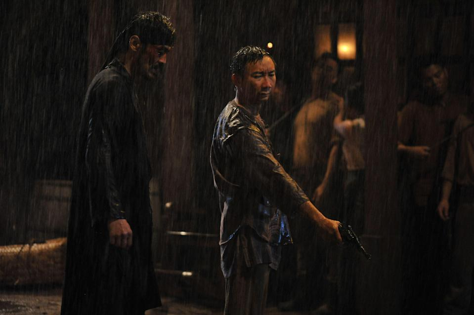 "Hossan Leong (right) plays the right-hand man of Grisse's brothel owner Chi in HBO Asia's period action series ""Grisse"". (Photo: HBO Asia)"
