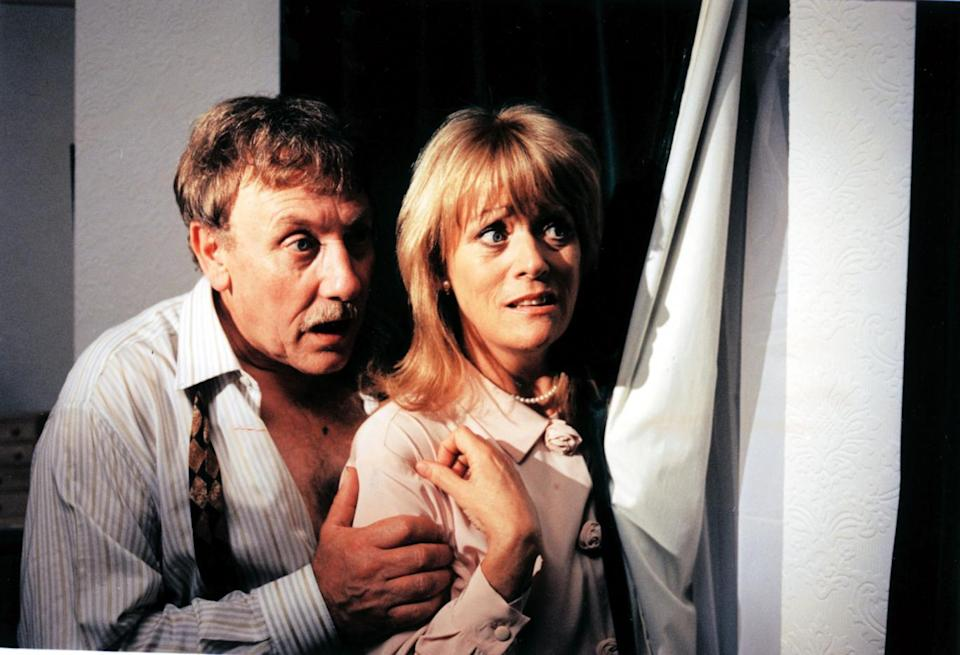 Hiding out: Peter Armitage's character had an affair with Sherrie Hewson's Maureen Elliott in the 90s