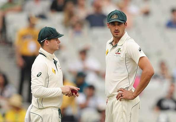 Mitchell Starc Steven Smith
