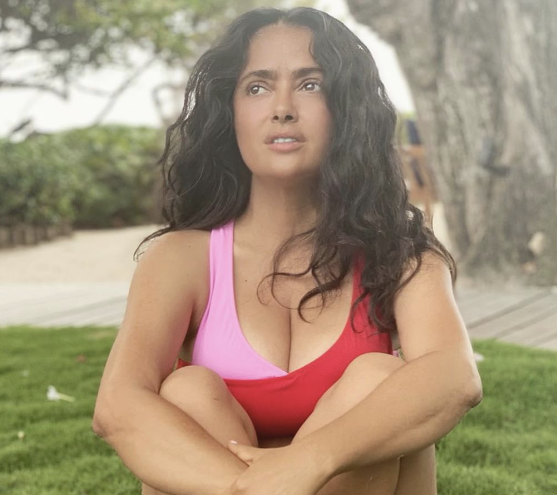 All American Bikini Car Wash Amazon salma hayek, 53, shows off her curves in makeup-free bikini pic