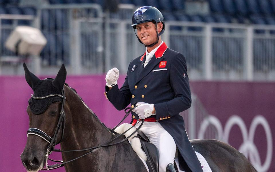 Carl Hester on En Vogue performing in the Dressage Individual - Paul Grover for the Telegraph