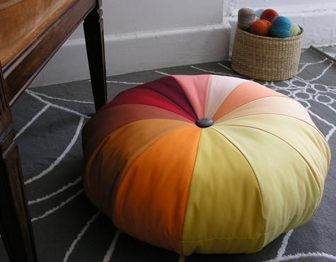 """<div class=""""caption-credit""""> Photo by: Design Sponge</div><b>Make a Pouf</b> <br> Seating can be hard to come by in college dorms, so versatile furniture is a must. This DIY poof could be used as a chair, a footrest, a stepstool or a coffee table! <br> <i><a href=""""http://blogs.babble.com/family-style/2012/09/01/25-dorm-decor-diy-ideas/#make-a-pouf-diy"""" rel=""""nofollow noopener"""" target=""""_blank"""" data-ylk=""""slk:Get the tutorial"""" class=""""link rapid-noclick-resp"""">Get the tutorial</a></i>"""