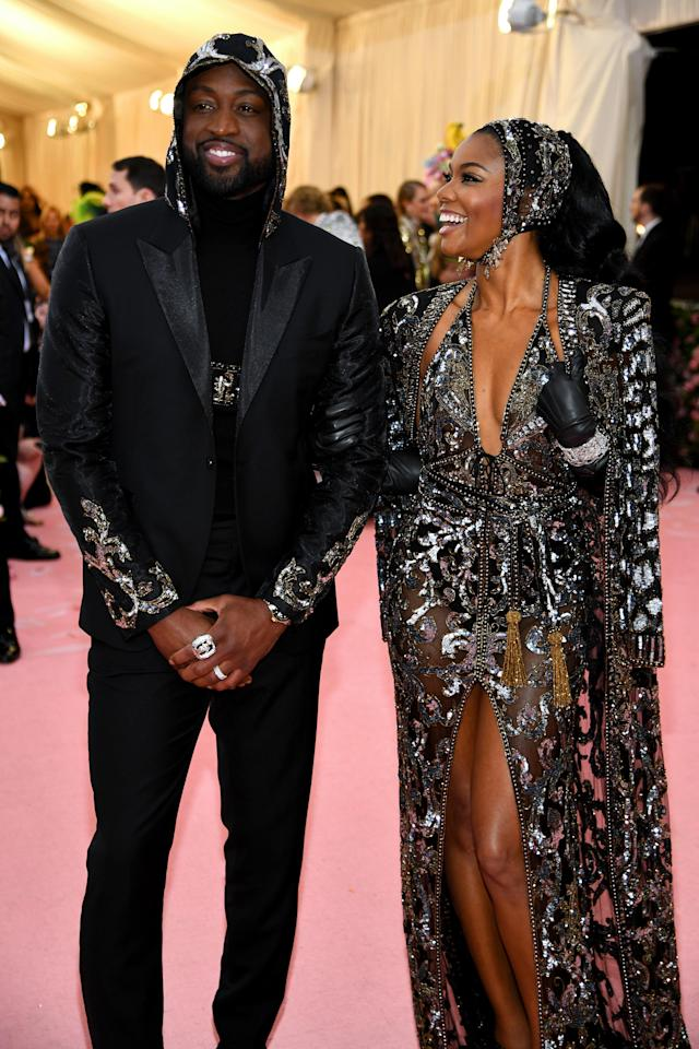 Dwayne Wade And Gabrielle Union attend The 2019 Met Gala Celebrating Camp: Notes on Fashion at Metropolitan Museum of Art on May 06, 2019 in New York City. (Photo by Dimitrios Kambouris/Getty Images for The Met Museum/Vogue)