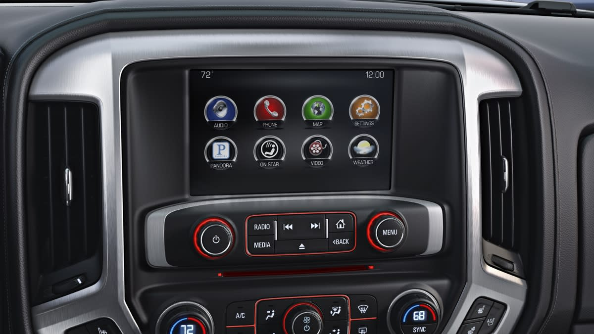 In-dash touch screen