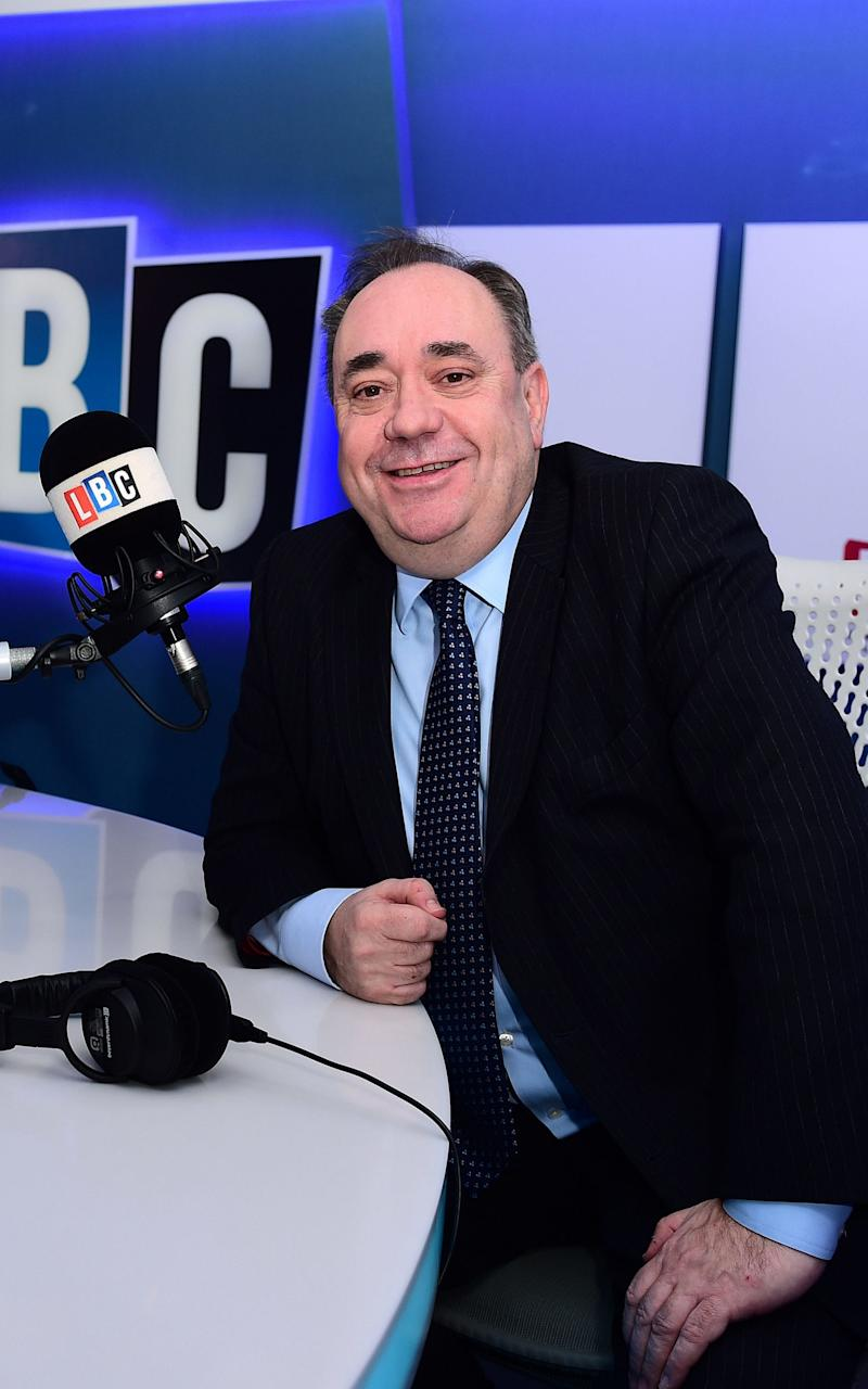 Alex Salmond made the remarks during his weekly LBC phone-in - Credit: PA