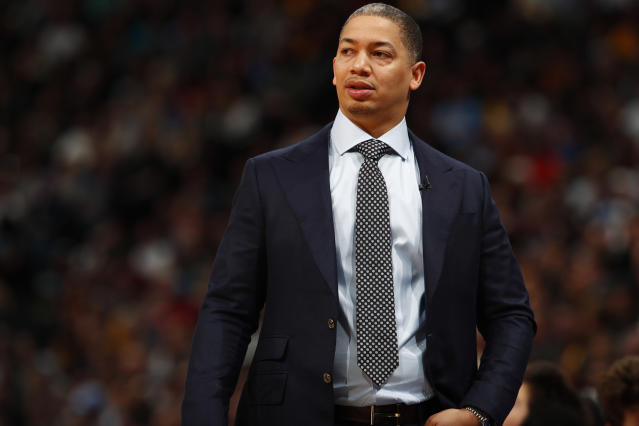 Tyronn Lue coached the Cavaliers to the NBA championship in 2016. (AP)