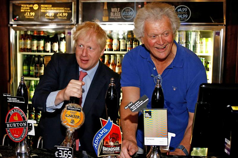 Tim Martin, right, is the Chairman of JD Wetherspoon (PA)