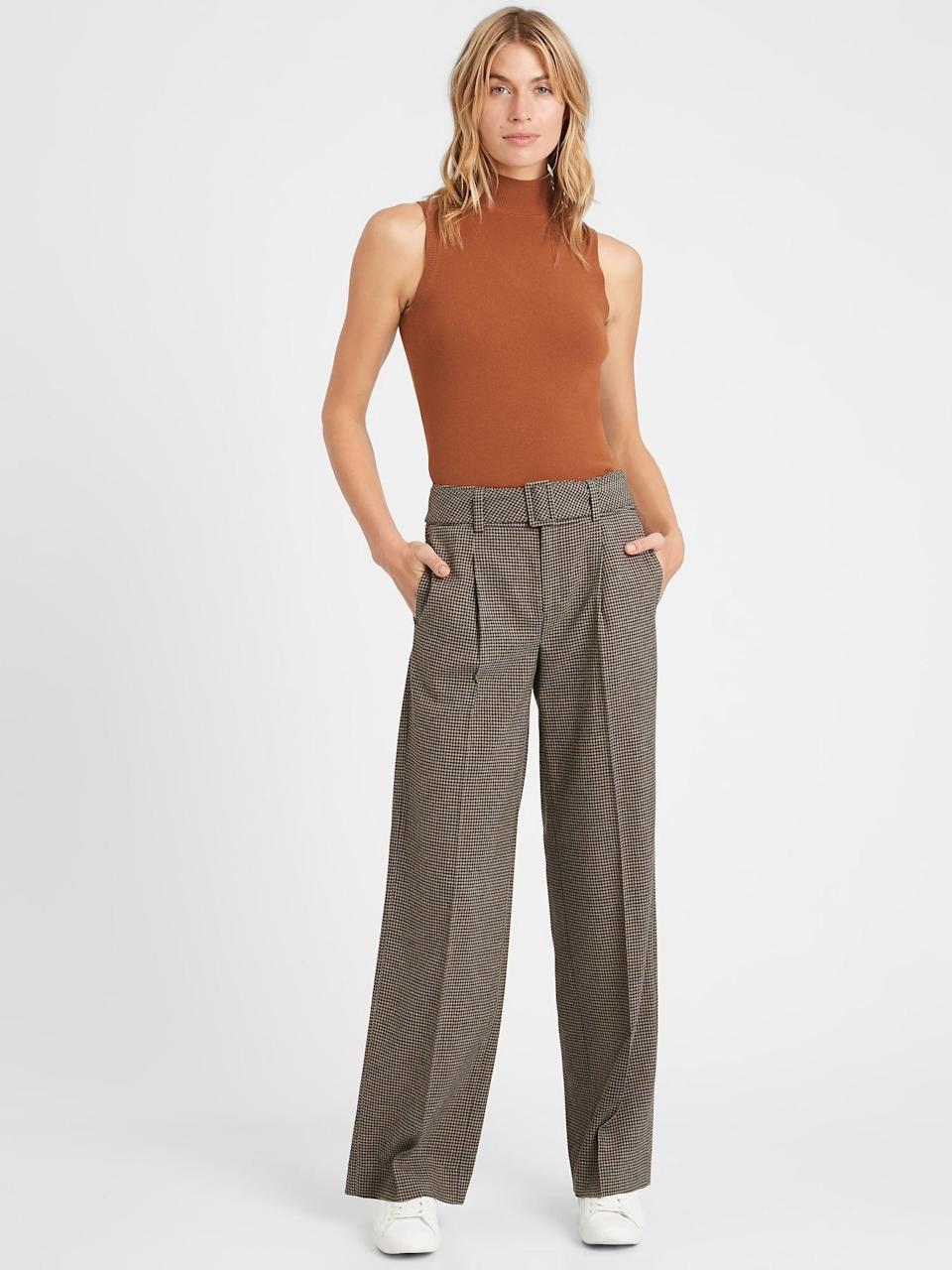 <p>These <span>Banana Republic High-Rise Slim Wide-Leg Flannel Pant</span> ($83, originally $119) are perfect for the winter with a slouchy boyfriend look!</p>