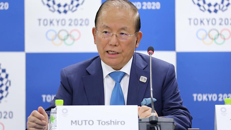 Muto Toshiro, pictured here discussing the coronavirus situation ahead of the Tokyo Olympics.