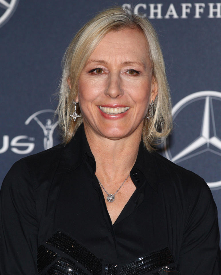 "<strong>Martina Navratilova</strong><br><br> Tennis legend Martina Navratilova will be dancing with Tony Dovolani on Season 14 of ""<a target=""_blank"" href=""http://tv.yahoo.com/dancing-with-the-stars/show/38356"">Dancing With the Stars</a>."""