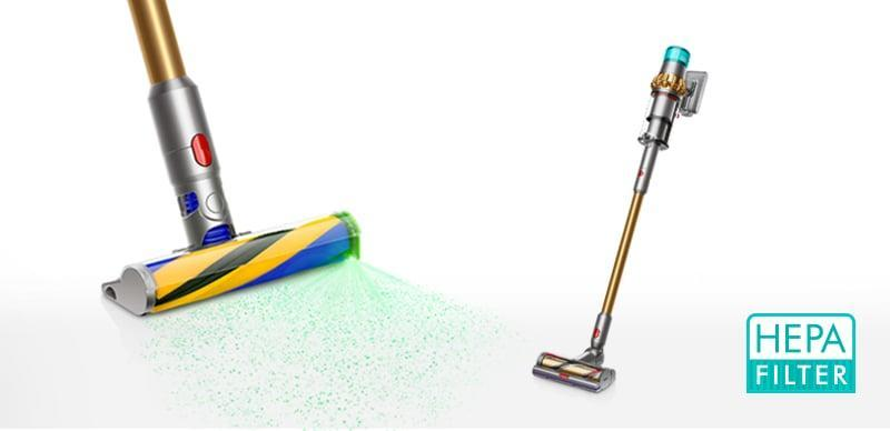 <p>One of the brand's newest innovations is the <span>Dyson V15 Detect Cordless Vacuum</span> ($700). It has a cool green laser light that shines on your floor, so you can see every single spot without missing dust or debris.</p>