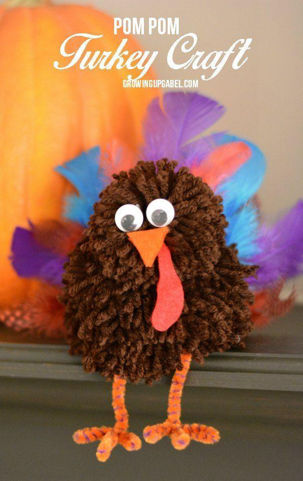 "<p>These cute little turkeys are perfect to make with your kids and use to decorate the table for dinner.</p><p><strong>Get the tutorial at <a href=""https://growingupgabel.com/pom-pom-thanksgiving-craft/"" rel=""nofollow noopener"" target=""_blank"" data-ylk=""slk:Growing Up Gabel"" class=""link rapid-noclick-resp"">Growing Up Gabel</a>. </strong></p><p><strong><a class=""link rapid-noclick-resp"" href=""https://www.amazon.com/Mira-Handcrafts-Acrylic-Yarn-Bonbons/dp/B07B7M5RBW/ref=sr_1_11?tag=syn-yahoo-20&ascsubtag=%5Bartid%7C10050.g.22626432%5Bsrc%7Cyahoo-us"" rel=""nofollow noopener"" target=""_blank"" data-ylk=""slk:SHOP YARN"">SHOP YARN</a><br></strong></p>"