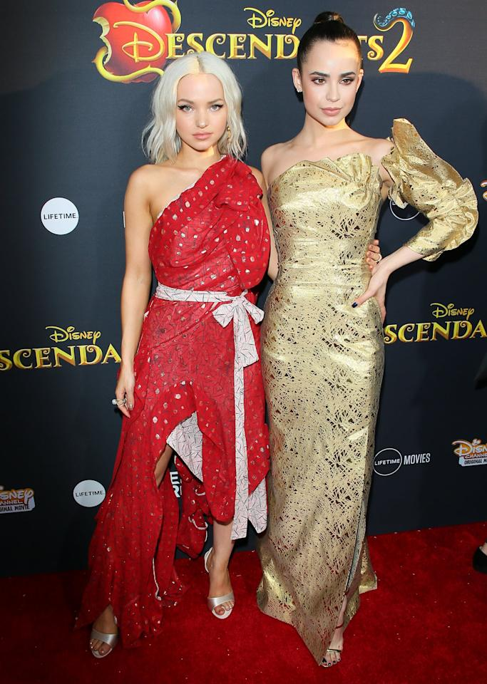 "<ul> <li><strong>On</strong> <a href=""http://people.com/tv/sofia-carson-on-descendants-2-costars-dove-cameron-and-thomas-doherty-dating-there-was-definitely-chemistry/"" target=""_blank"" class=""ga-track"" data-ga-category=""Related"" data-ga-label=""http://people.com/tv/sofia-carson-on-descendants-2-costars-dove-cameron-and-thomas-doherty-dating-there-was-definitely-chemistry/"" data-ga-action=""In-Line Links"">why she approves of Dove's relationship with Thomas Doherty</a>: ""As long as she's happy, I'm happy is what I always say."" </li> <li><strong>On</strong> <a href=""http://www.justjaredjr.com/2017/05/19/dove-cameron-has-two-special-connections-with-sofia-carson-china-anne-mcclain/"" target=""_blank"" class=""ga-track"" data-ga-category=""Related"" data-ga-label=""http://www.justjaredjr.com/2017/05/19/dove-cameron-has-two-special-connections-with-sofia-carson-china-anne-mcclain/"" data-ga-action=""In-Line Links"">how she can always tell what kind of mood Dove is in</a>: ""I can tell as soon as she walks into the trailer if she's having a bad day."" </li> <li><strong>On</strong> <a href=""http://www.accessonline.com/videos/sofia-carson-on-descendants-3-her-friendship-with-dove-cameron"" target=""_blank"" class=""ga-track"" data-ga-category=""Related"" data-ga-label=""http://www.accessonline.com/videos/sofia-carson-on-descendants-3-her-friendship-with-dove-cameron"" data-ga-action=""In-Line Links"">how much she's grown to love Dove and her <strong>Descendants </strong>cast mates</a>: ""The whole cast has become like a family. When you share so much time together . . . you guys are just kind of bonded.""</li> </ul>"