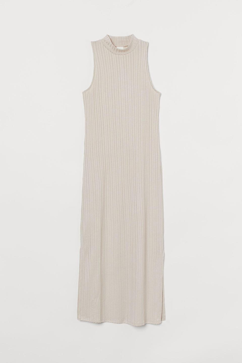 <p>This <span>H&amp;M Ribbed Dress</span> ($7, originally $18) will look great with slide sandals, espadrilles, or sneakers.</p>
