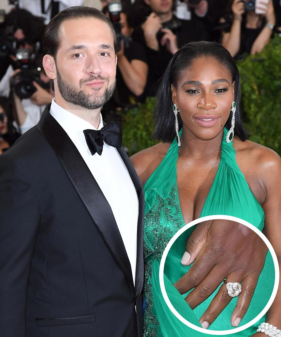<p>The world champion tennis player debuted her ring on Reddit, the site that her finance co-founded. Alexis proposed in Rome, where they had their first date, in late 2016. </p>
