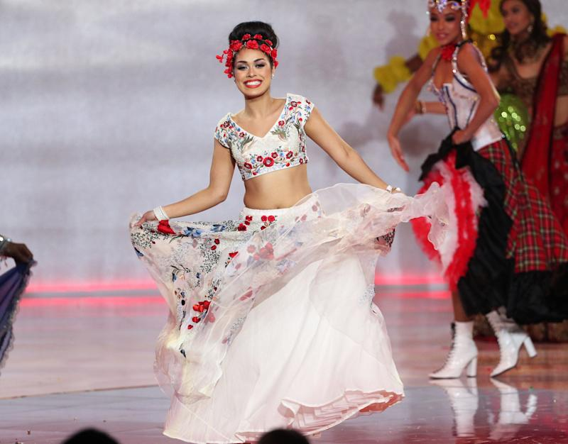 Bhasha Mukherjee, during the 69th Miss World annual final. (Photo: Yui Mok - PA Images via Getty Images)