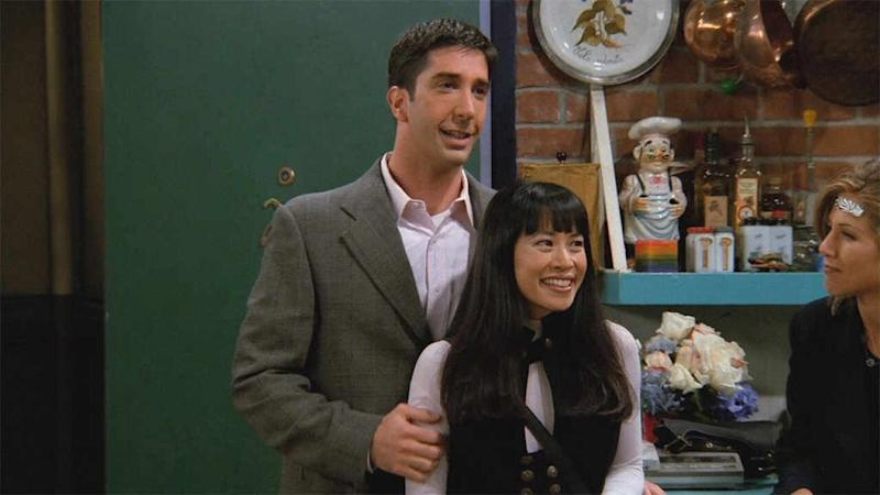 David Schwimmer y Lauren Tom, en la segunda temporada de 'Friends'. (Photo: FRIENDS)
