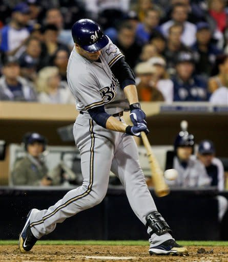 Braun has 1st career 3-homer game in Brewers' win