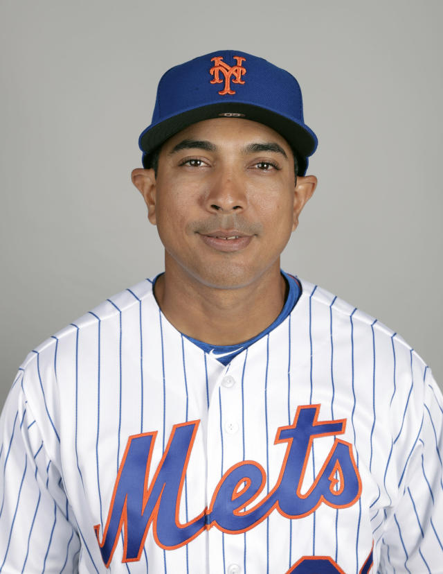 This is a 2019 photo of Luis Rojas of the New York Mets baseball team. This image reflects the 2019 active roster as of Thursday, Feb. 21, 2019, when this image was taken. (AP Photo/John Raoux)
