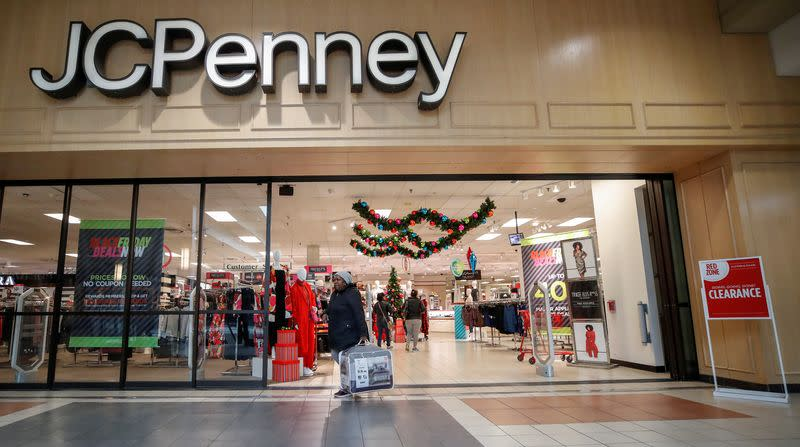 FILE PHOTO: A shopper leaves the J.C. Penney department store in North Riverside