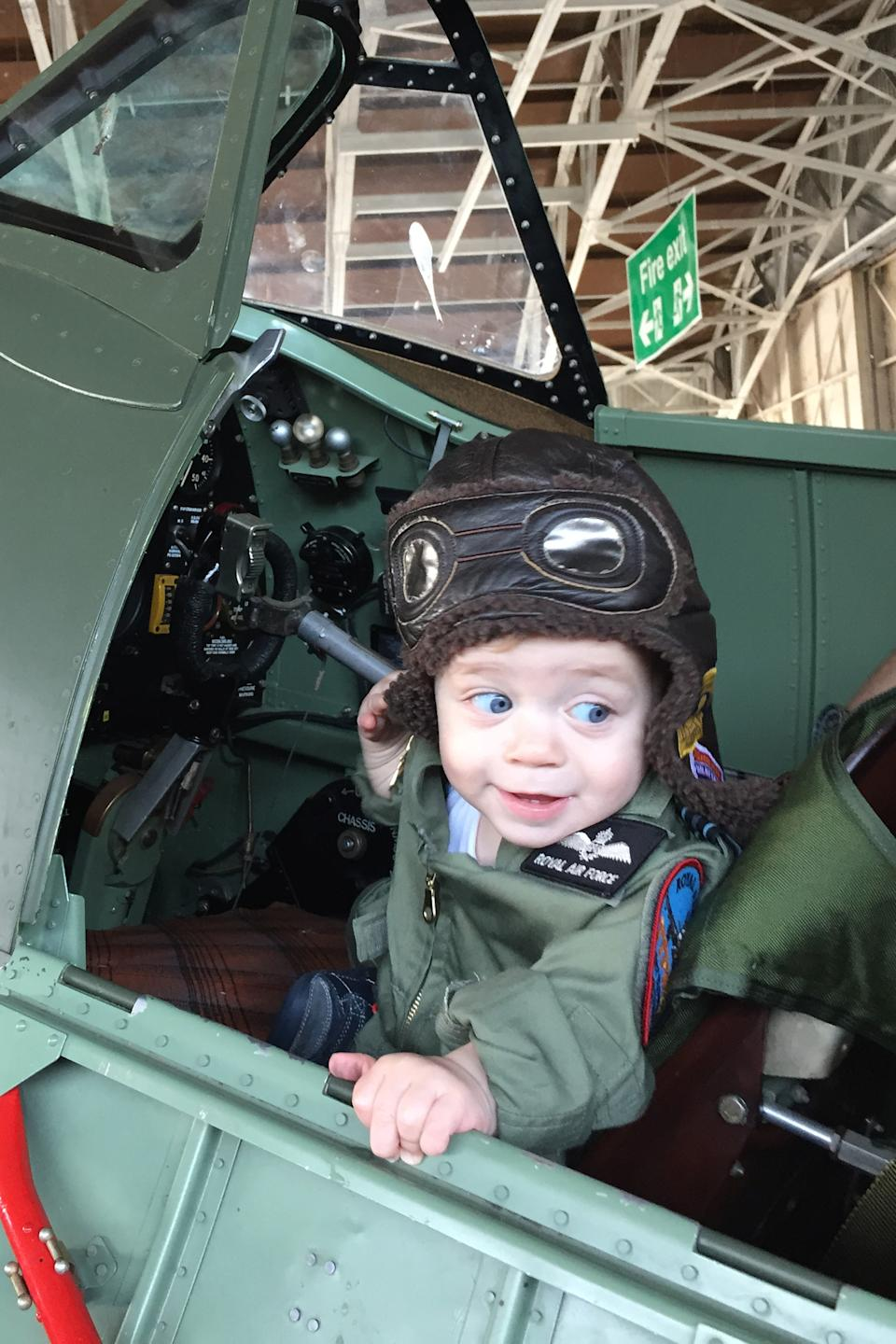 Jacob's parents took him to flying shows when he was just a baby. (Caters)