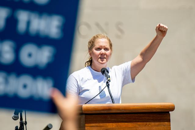 Amy Schumer spoke at the Families Belong Together rally in June. (Photo: Roy Rochlin/Getty Images)