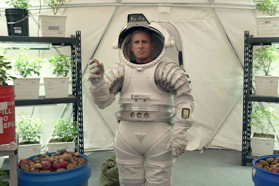 Steve Carell as General Mark R. Naird in episode 104 of <i>Space Force</i> (Courtesy of Netflix © 2020)