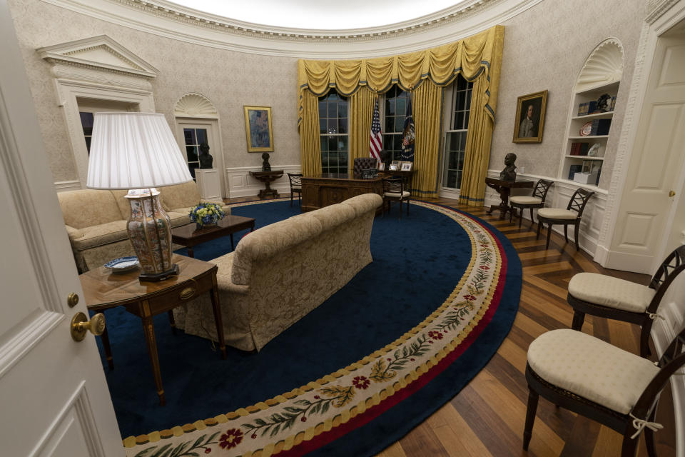 Biden has introduced new photos and sculptures to the Oval Office of the White House.