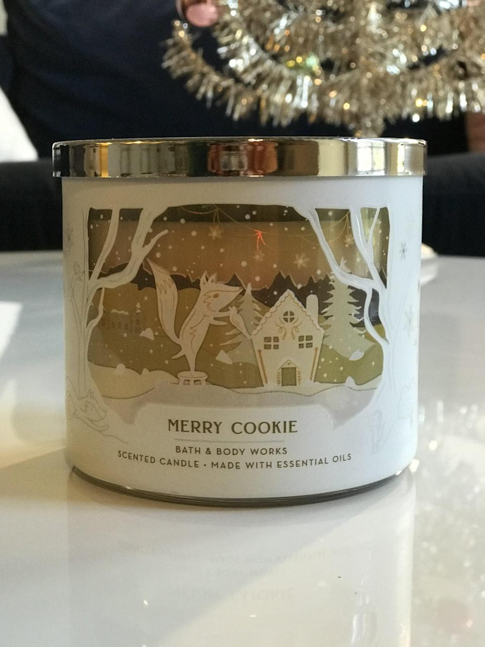 <p><span>Merry Cookie 3-Wick Candle</span> ($15, originally $25)</p> <p><strong>What It Smells Like:</strong> A freshly baked vanilla sugar cookie.</p>